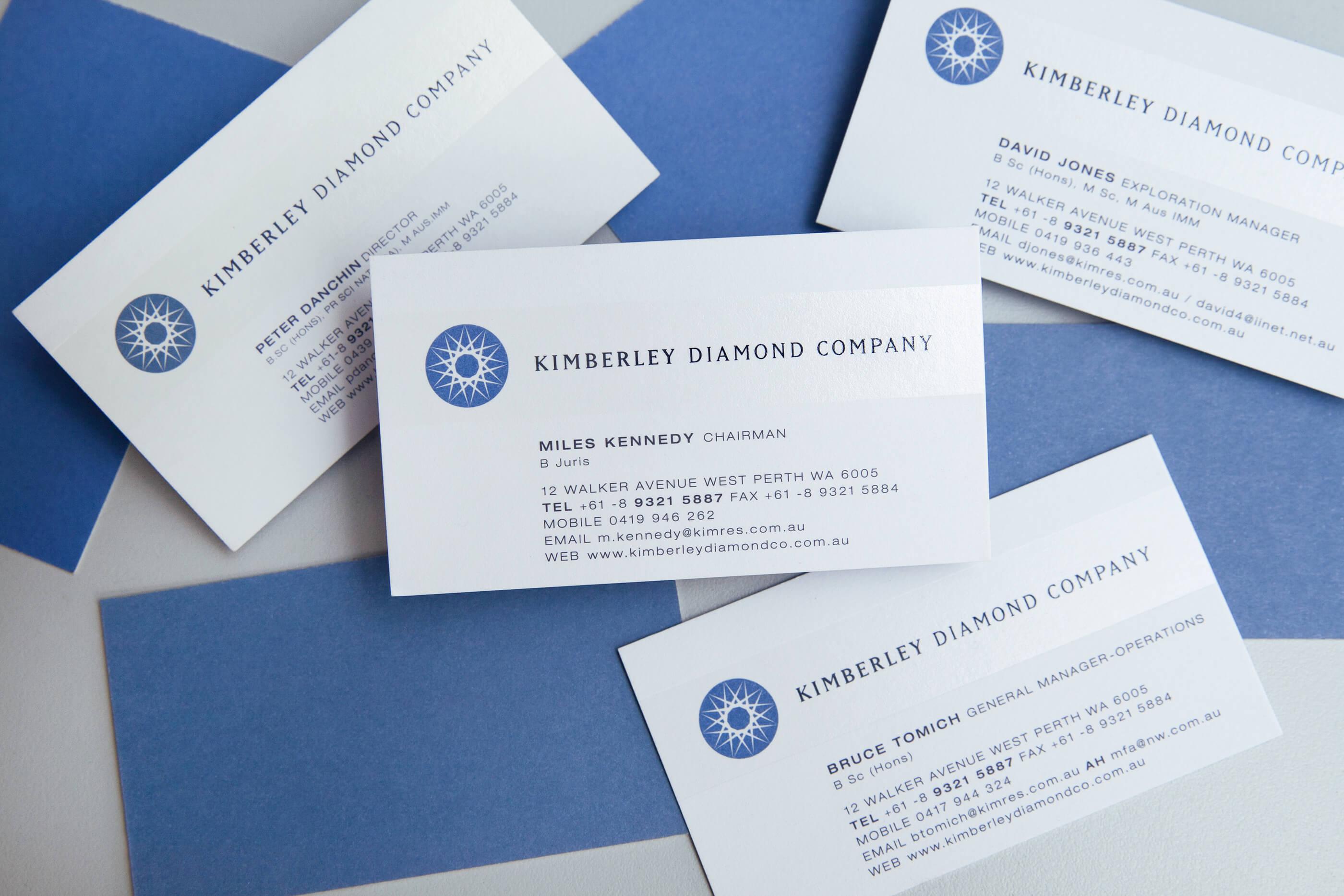 Kimberley-Diamonds-Business-Card-Design