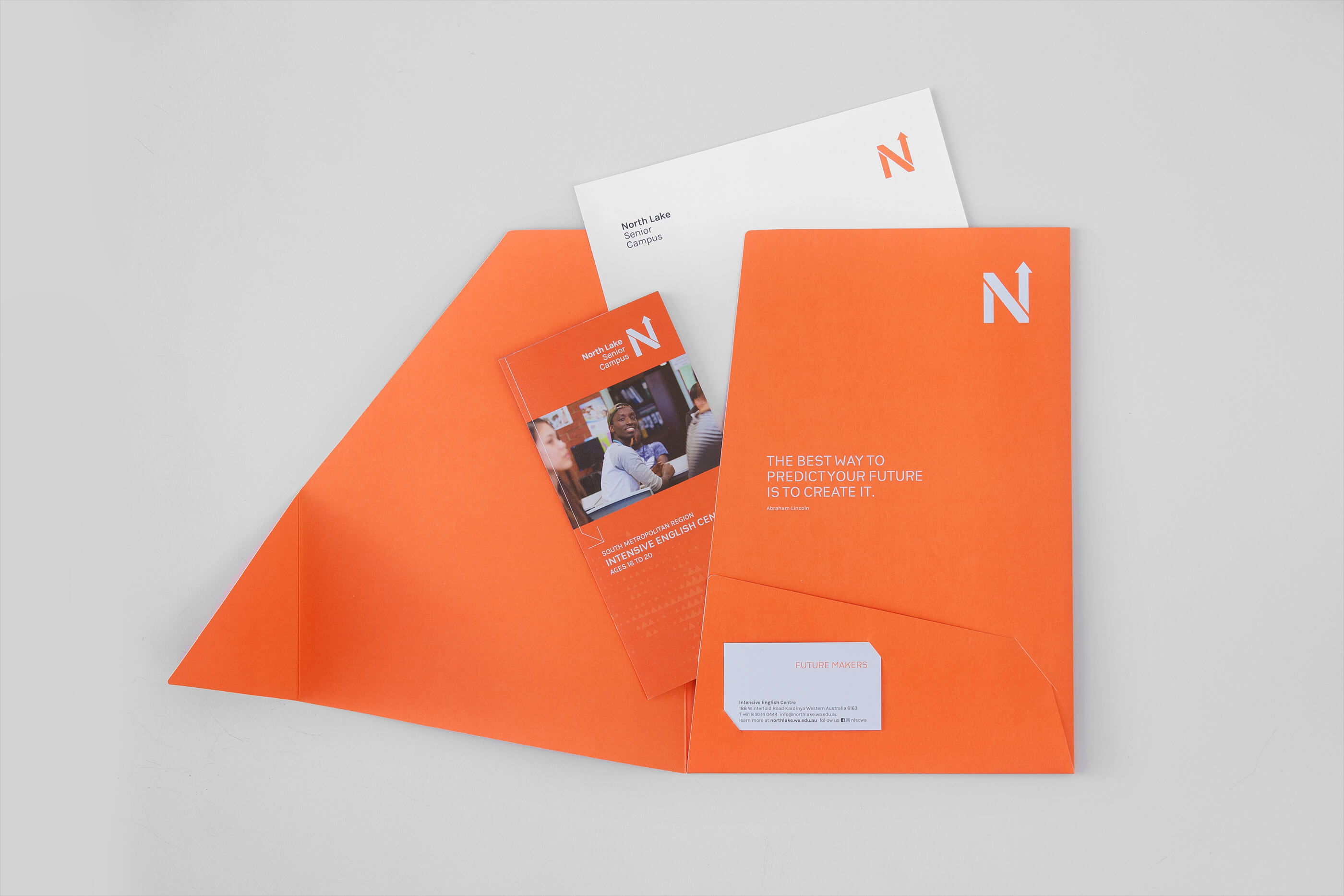North Lake Folder with Content